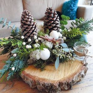 Het Goeie Gevoel workshops kerststukje boomstammetje